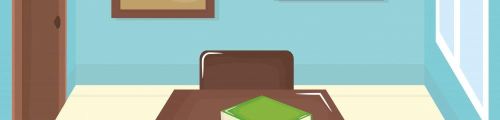 school classroom with schooldesks scene vector illustration design